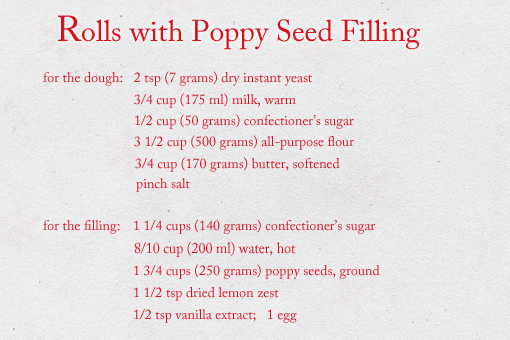 sweet rolls with poppy seed filling recipe with step by step pictures
